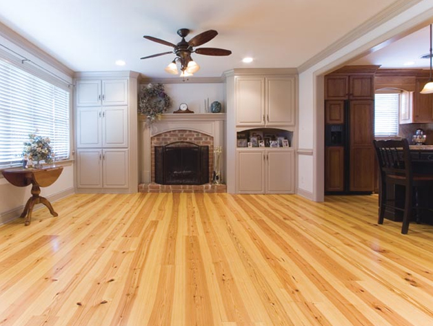 New Heart Pine Wood Flooring