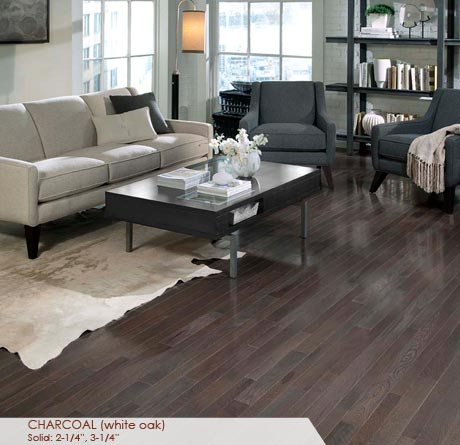 White Oak Charcoal Solid Prefinished