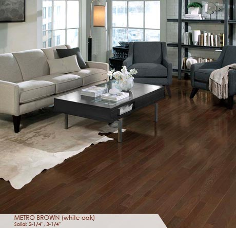 White Oak Metro Brown Solid Prefinished